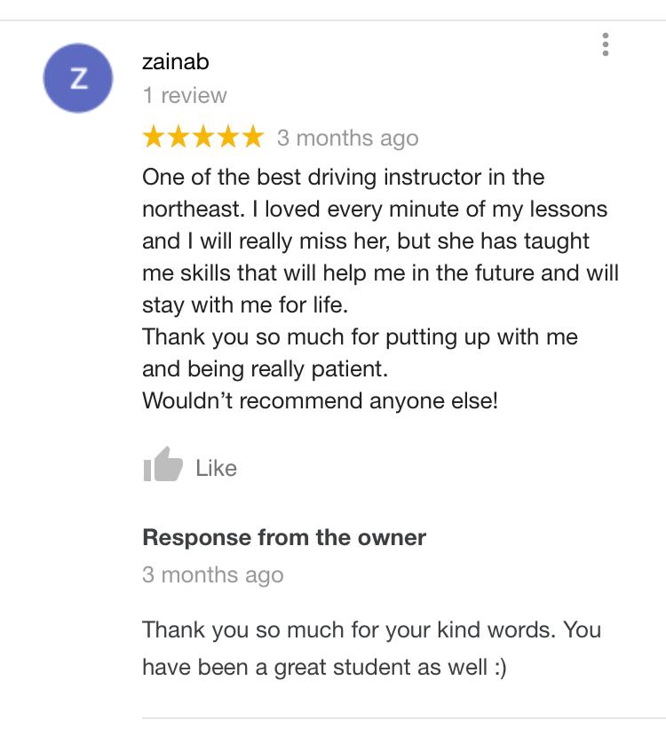 Rohaila's Driving School – Automatic Tuition